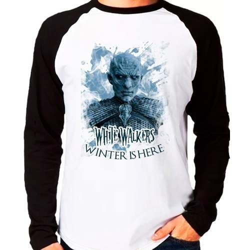 Camiseta Game Of Thrones White Walkers Raglan Manga Longa