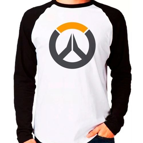 Camiseta Overwatch Over Watch Game Jogo Raglan Manga Longa