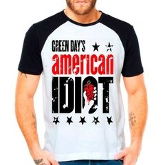 Camiseta Raglan Banda Green Day American Idiot