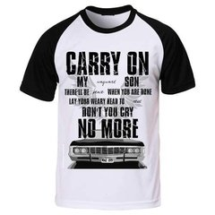 Camiseta Supernatural Sobrenatural Carry On Wayward Son