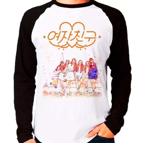 Camiseta Gfriend Kpop Girlfriend K-pop Raglan Manga Longa