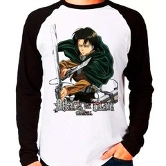 Camiseta Shingeki No Kyojin Attack On Titan V02 Manga Longa