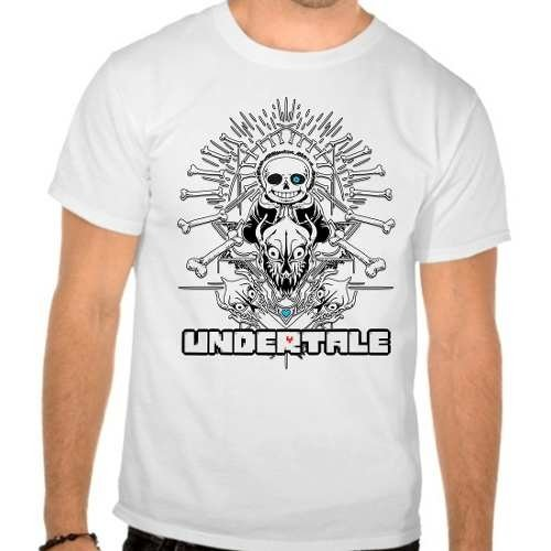 Camiseta Branca Undertale V4 Jogo Game Rpg