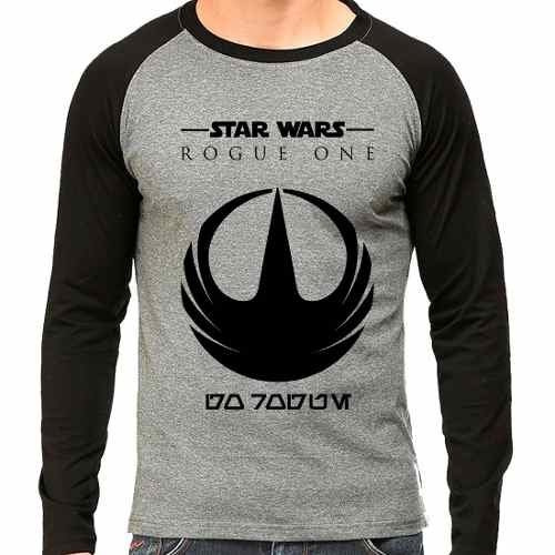 Camiseta Star Wars Rogue One Raglan Mescla