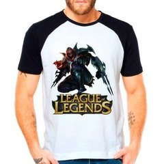 Camiseta Raglan League Of Legends Zed Lol Mid Middle Lane
