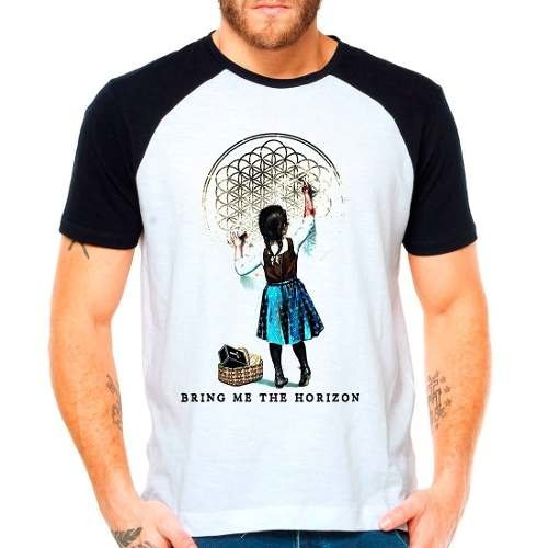Camiseta Bring Me The Horizon - Bmth - Raglan Manga Curta