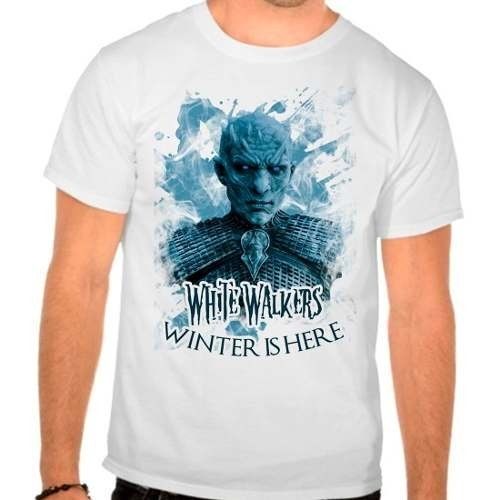 Camiseta Branca Game Of Thrones White Walkers