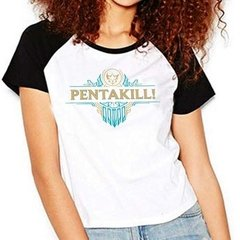 Camiseta League Of Legends Lol Pentakill Raglan Babylook