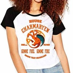 Camiseta Pokemon Charmander Game Of Thrones Raglan Babylook