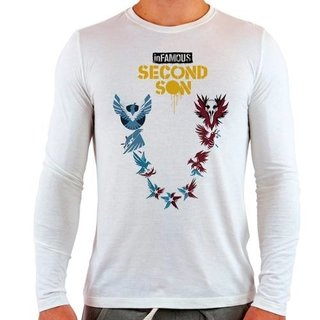 Camiseta Branca Longa Infamous Second So...