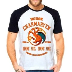 Camiseta Pokemon Charmander Game Of Thrones Raglan Curta