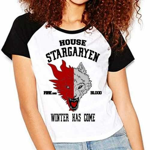 Camiseta Game Of Thrones Got Stargaryen Raglan Babylook