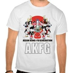 Camiseta Branca Asian Kung Fu Generation Akfg Jrock