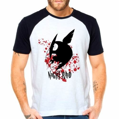 Camiseta Akame Ga Kill Leone Night Raid Raglan Manga Curta