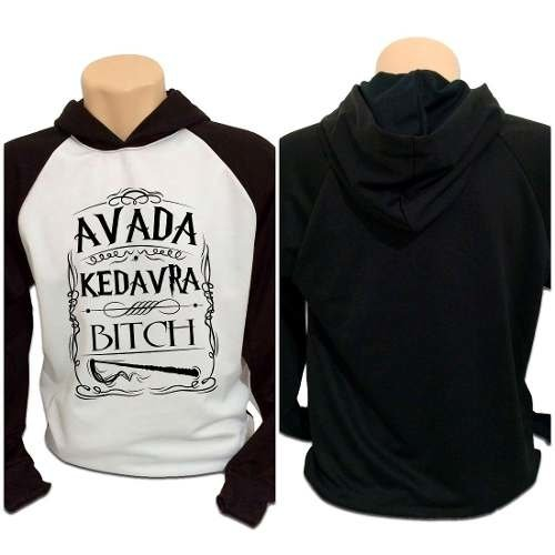 Casaco Blusa Moletom Harry Potter Avada Kedavra Bitch