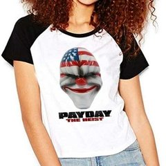 Camiseta Pay Day Payday The Heist Raglan Babylook