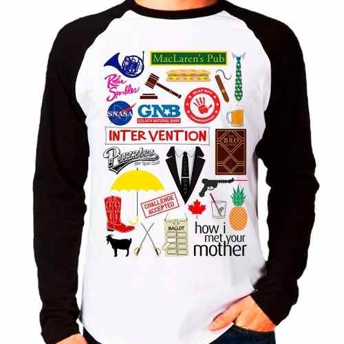 Camiseta Camisa How I Met Your Mother Raglan Manga Longa