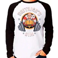 Camiseta One Punch Man Saitama's Gym Raglan Manga Longa