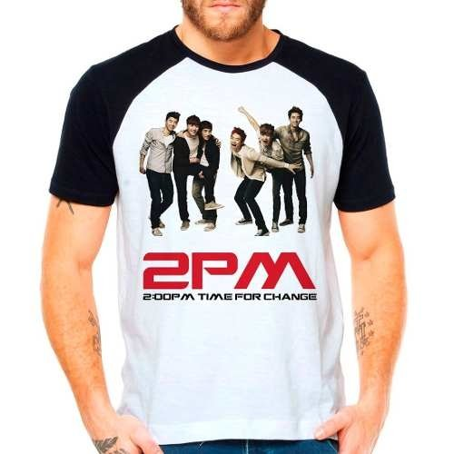 Camiseta 2pm Time For Change Kpop Integrantes Raglan