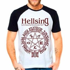 Camiseta Raglan Anime Hellsing Alucard In The Name Of God