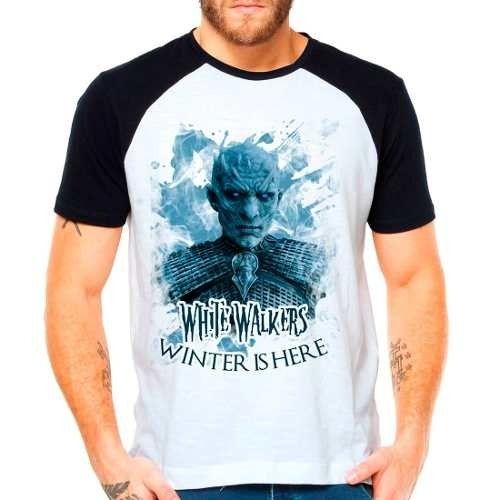 Camiseta Game Of Thrones White Walkers Raglan Manga Curta