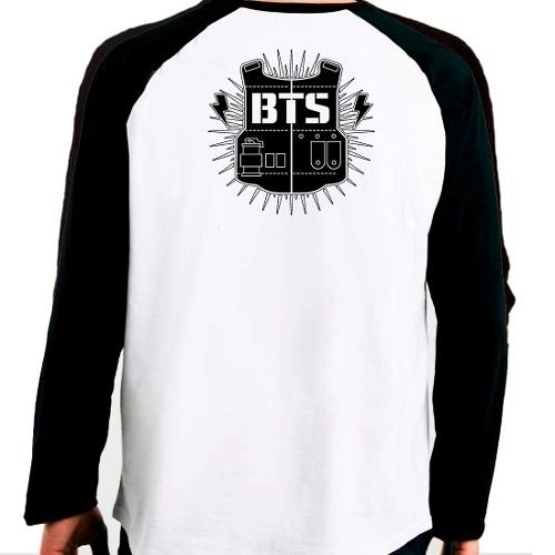 Camiseta Blusa Raglan Manga Longa Kpop Bts You Got No Jams na internet