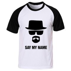 Camiseta Raglan Breaking Bad Say My Name Walter White
