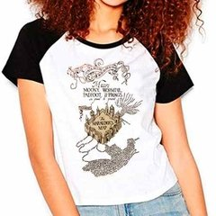 Camiseta Harry Potter Marauders Map Raglan Babylook