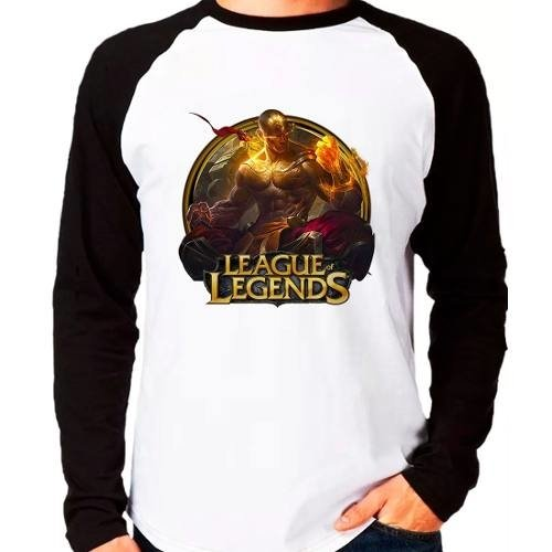 Camiseta Lol League Of Legends Lee Sin Punhos Raglan M.longa