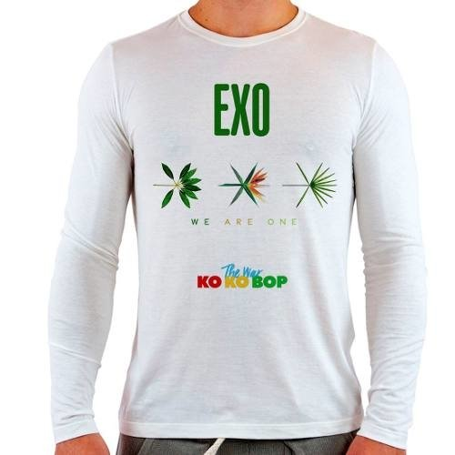 Camiseta Branca Longa Exo The War Ko Ko Bop
