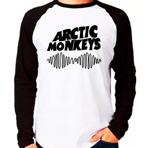 Camiseta Arctic Monkeys Rock Raglan Manga Longa