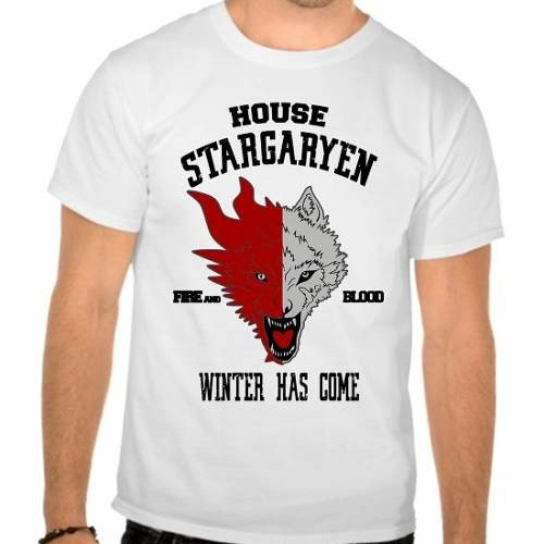 Camiseta Branca Game Of Thrones Got Stargaryen
