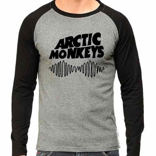 Camiseta Arctic Monkeys Rock Raglan Mescla