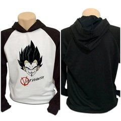 Casaco Blusa Moletom Dragon Ball Z V For Vegeta