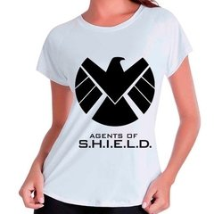 Camiseta Babylook Agents Of Shield Marvel