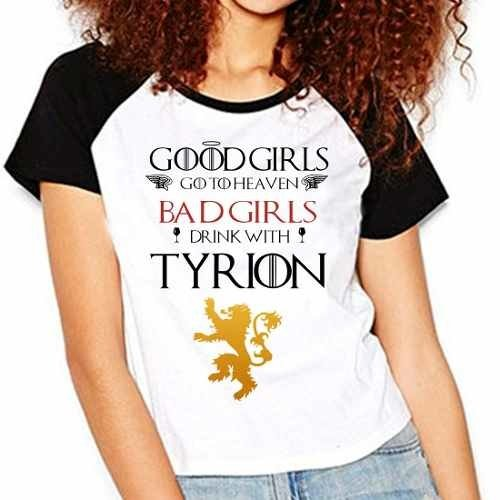 Camiseta Babylook Game Of Thrones Got Tyrion Lannister