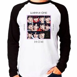 Camiseta Blusa Raglan Longa Wanna One Un...