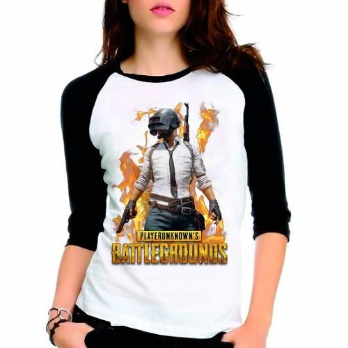 Camiseta Playerunknown's Battlegrounds Raglan Babylook 3/4