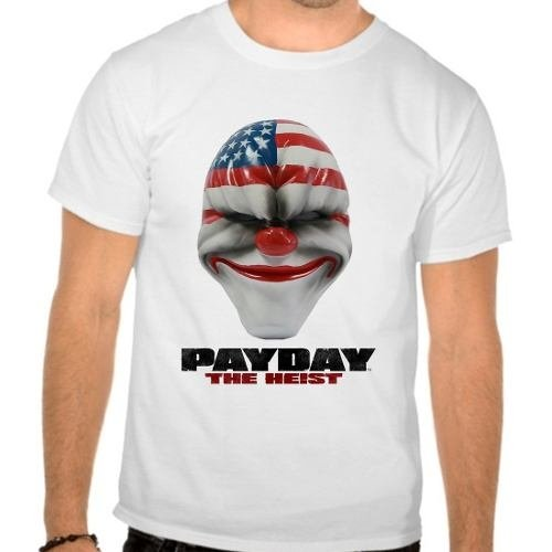 Camiseta Branca Pay Day Payday The Heist
