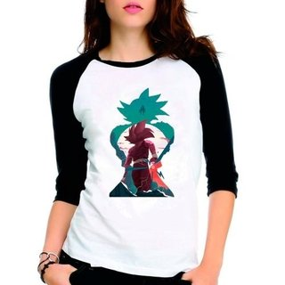 Camiseta Dragon Ball Z Cell Raglan Babyl...