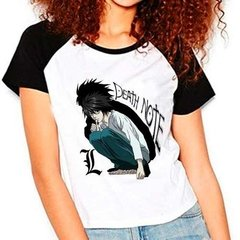 Camiseta Raglan Babylook Anime Death Note L