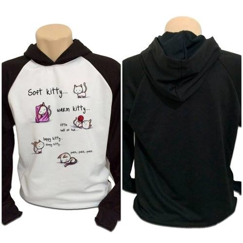 Casaco Blusa Moletom The Big Bang Theory Tbbt Soft Kitty V2