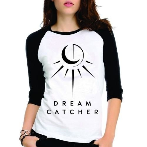 Camiseta Dreamcatcher Dream Catcher Kpop Raglan Babylook 3/4