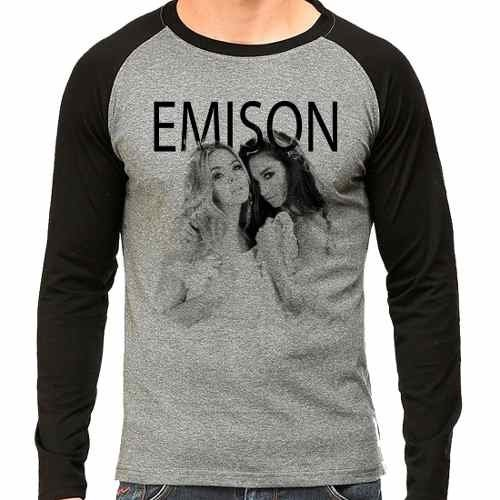 Camiseta Pretty Little Liars Pll Emison Raglan Mescla