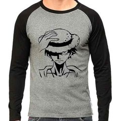Camiseta One Piece Luffy V 01 Raglan Mescla