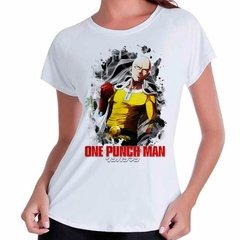 Camiseta Babylook Anime One Punch Man Saitama