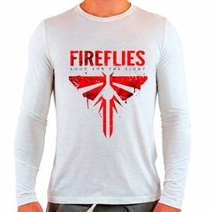 Camiseta Branca Longa The Last Of Us Fireflies