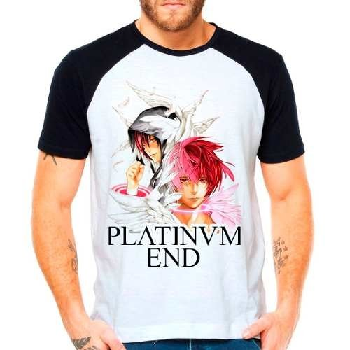 Camiseta Raglan Anime Platinum End Mirai Kakehashi Shounen