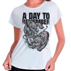 Camiseta Blusa Banda A Day To Remember Feminina Babylook