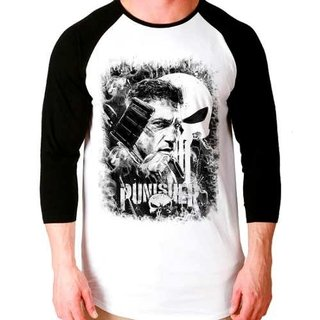 Camiseta The Punisher O Justiceiro Ragla...